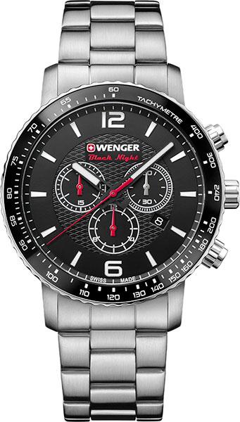 Мужские часы Wenger 01.1843.103 браслет стальной к часам маурицио