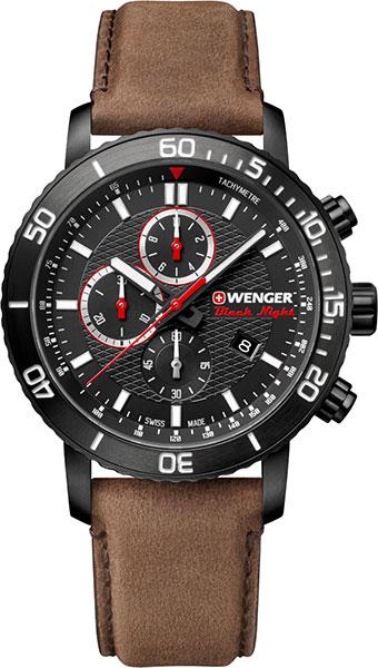 Фото «Швейцарские наручные часы Wenger 01.1843.107 с хронографом»