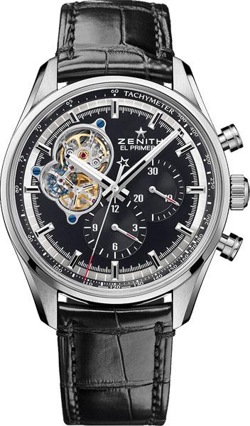 Швейцарские механические наручные часы Zenith 03.2040.4061/21.C496 с хронографом
