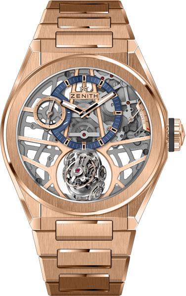 Швейцарские механические золотые наручные часы Zenith 18.9000.8812/79.M9000